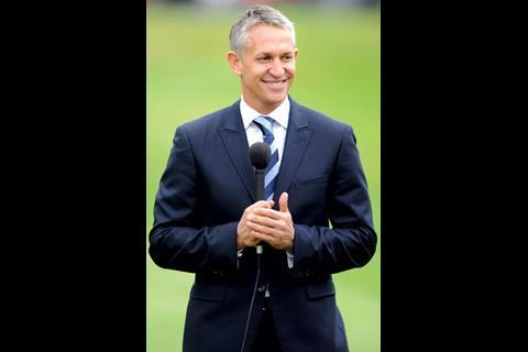 …and the sporting theme continues with former England strikers Gary Lineker and Les Ferdinand